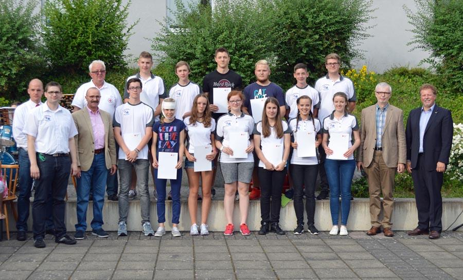Einführung von 14 neuen Schulsanitäter am Marianum Fulda | {Schulsanitäter 83}